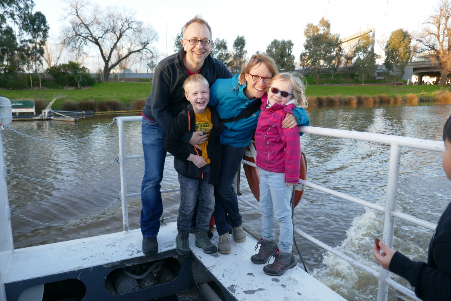 Dr Christoph Coch with his family in Melbourne