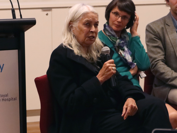 Professor Marcia Langton speaking during the panel discussion at the Indigenous Health at the Doherty Institute Forum