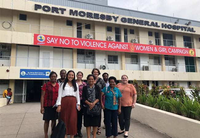 Site visit at Port Moresby General Hospital with Doherty Institute and Port Moresby General Hospital and Central Public Health Laboratory staff members
