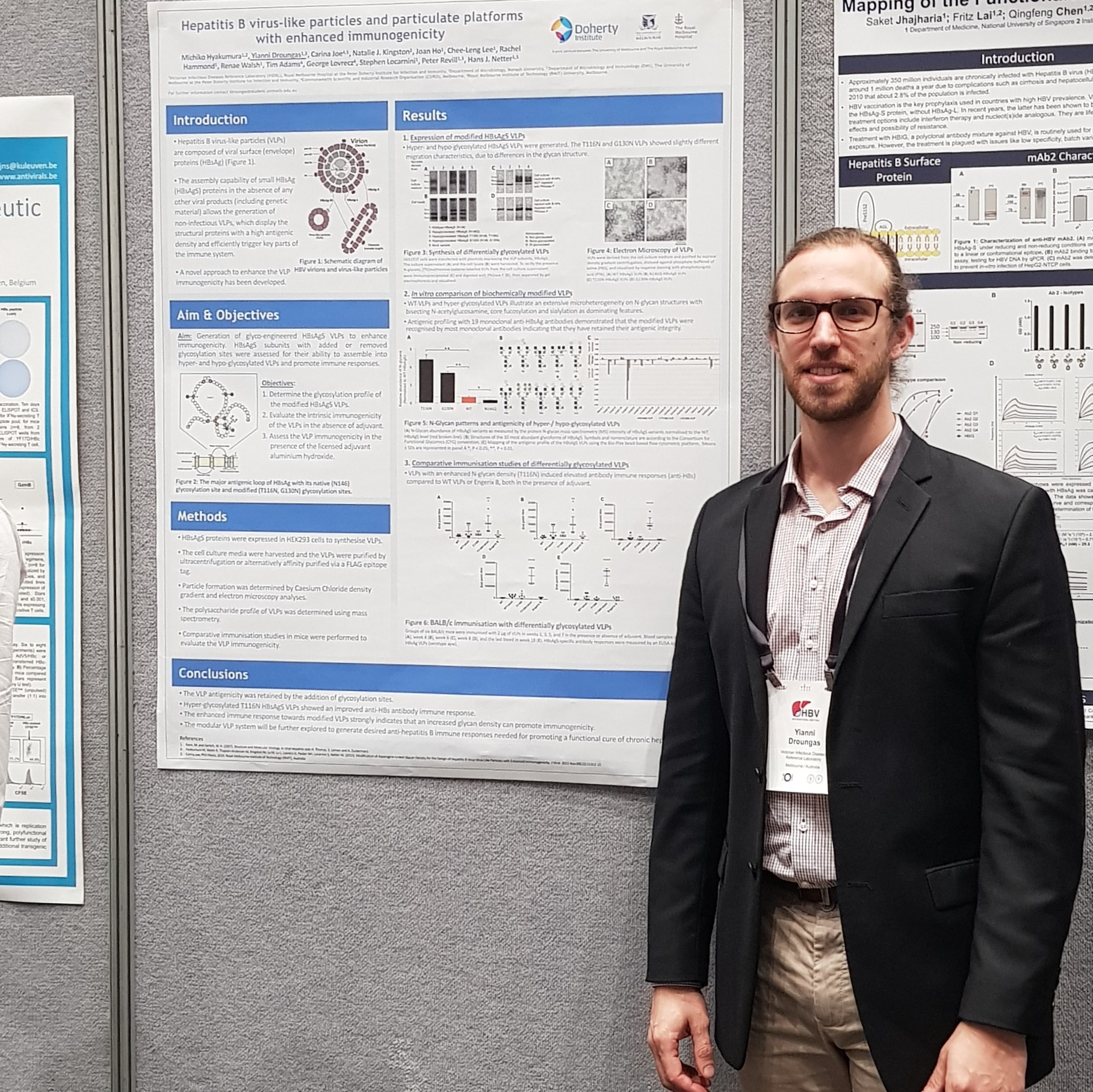 Yianni presents his poster on day 3 of the International HBV Meeting