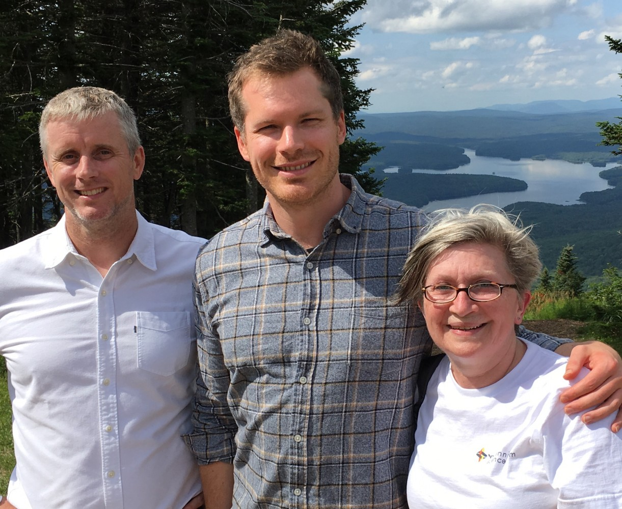 Professor Nick Barker (Singapore) and Dr Dusty Flanagan (now at the Beatson, Glasgow, UK) at the summit of Mount Snow, Vermont, USA.