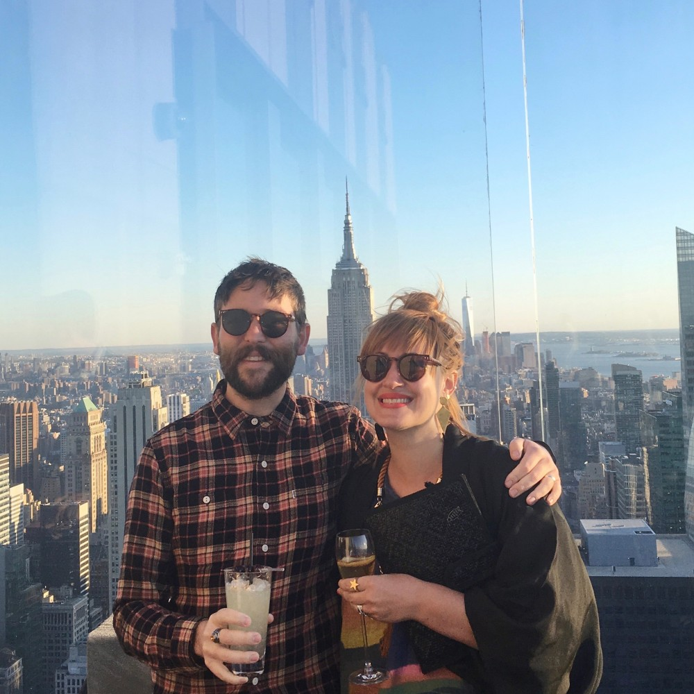 Hamish and wife Miriam atop the Empire State Building