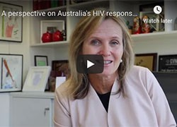 Professor Lewin's perspective on Australia's HIV response and challenges ahead.