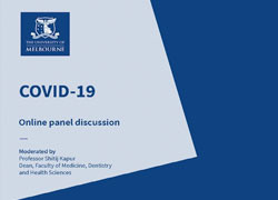 COVID-19 Online Panel Discussion held at the Doherty Institute