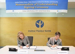 Doherty Institute signs MoU with Institut Pasteur Korea