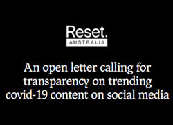 An open letter calling for transparency on trending COVID-19 content on social media