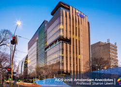 AIDS 2018: Professor Sharon Lewin's Amsterdam Anecdote